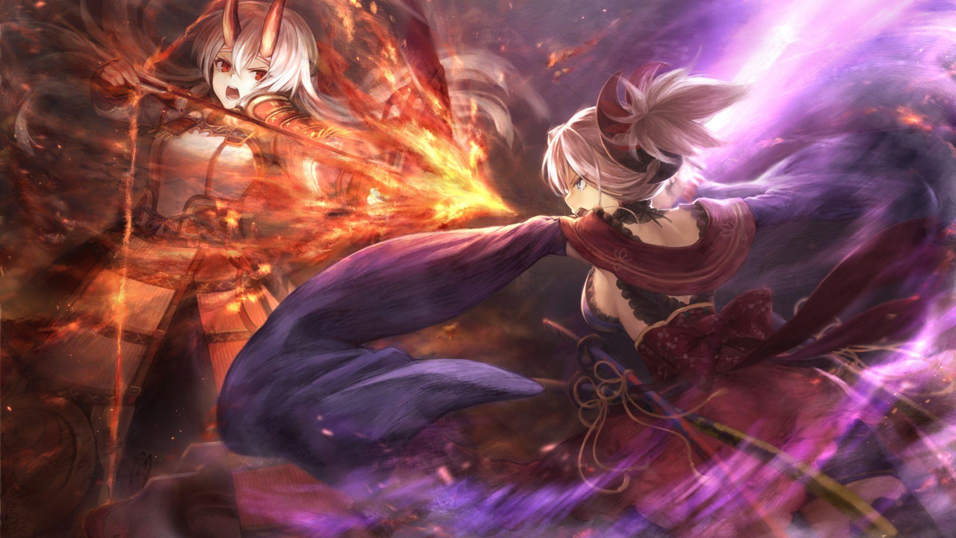 Desktop Wallpaper Anime Girls Archer Miyamoto Musashi