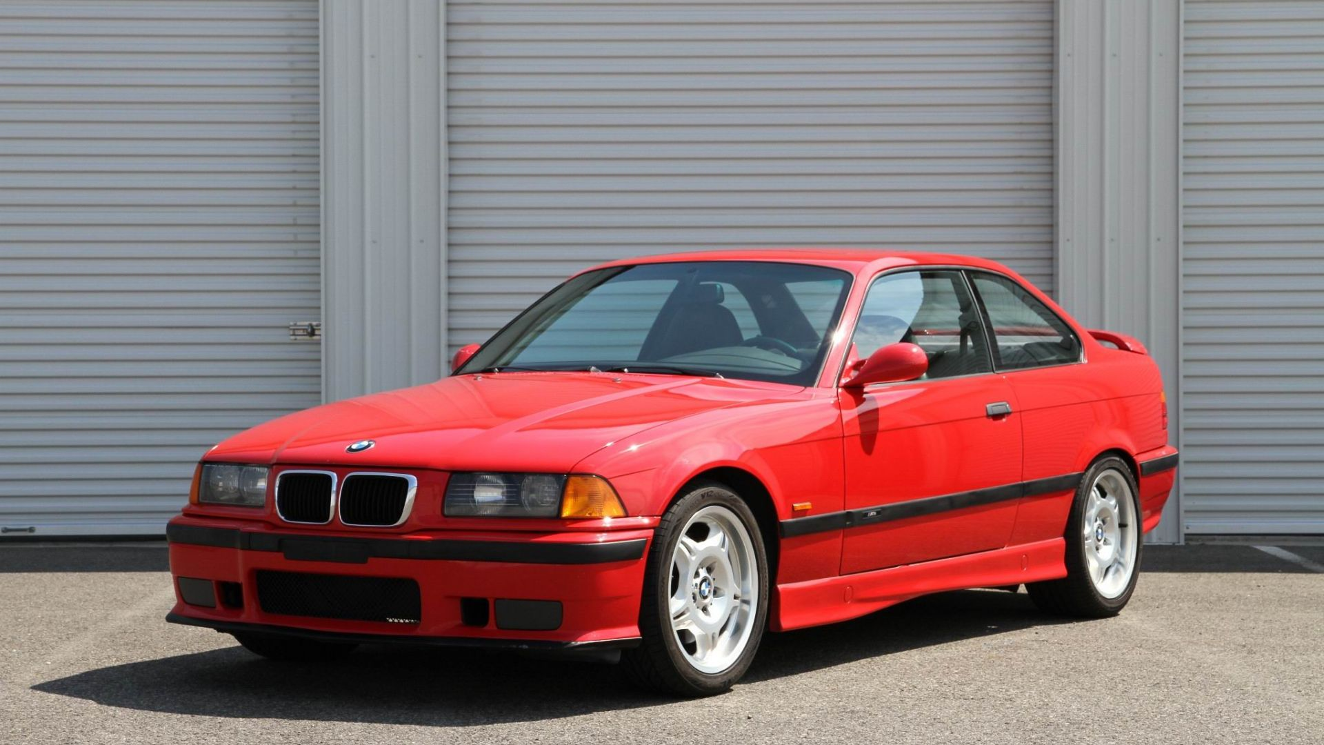 Wallpaper Red BMW M3 coupe, classic car