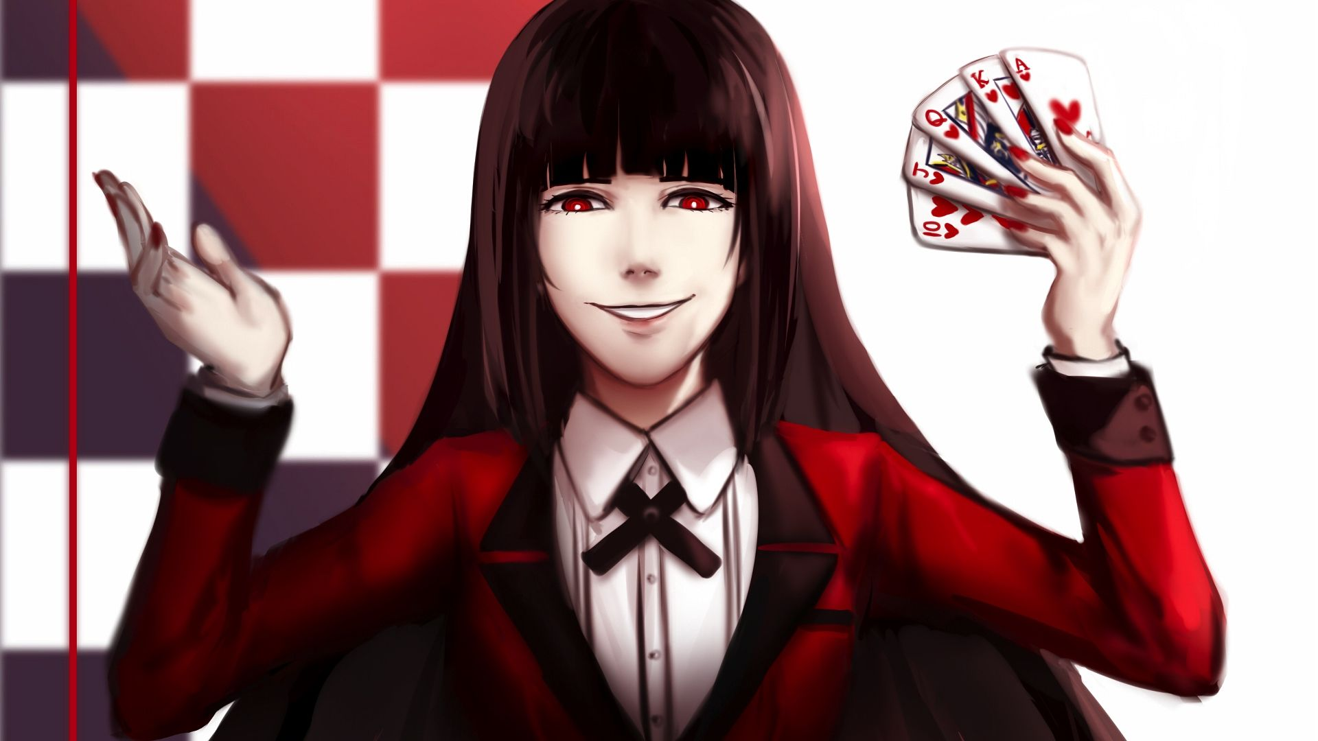 Desktop Wallpaper Anime Girl, Yumeko Jabami, Kakegurui