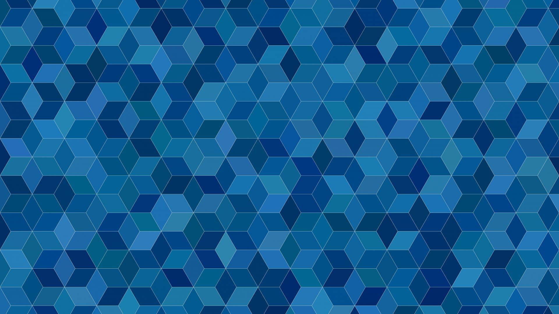 Blue Cubes Abstract Pattern 4k 5k Wallpaper