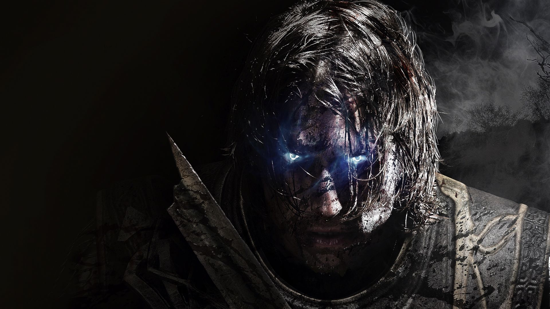 Middle-earth: Shadow of Mordor, video game, dark, warrior, face