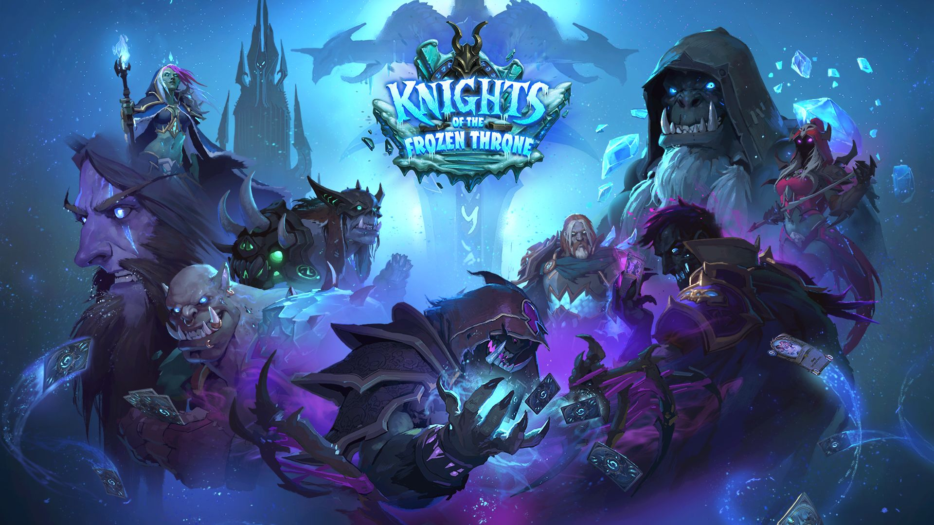 Wallpaper Knights of the frozen throne, video game, poster