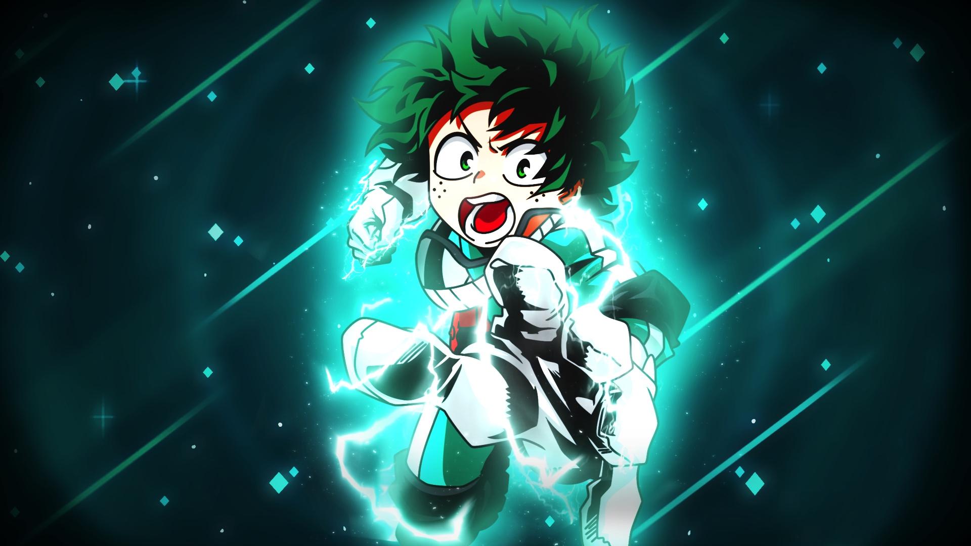 Desktop Wallpaper Izuku Midoriya Green Hair Angry Anime Boy Hd Image Picture Background 4a6435