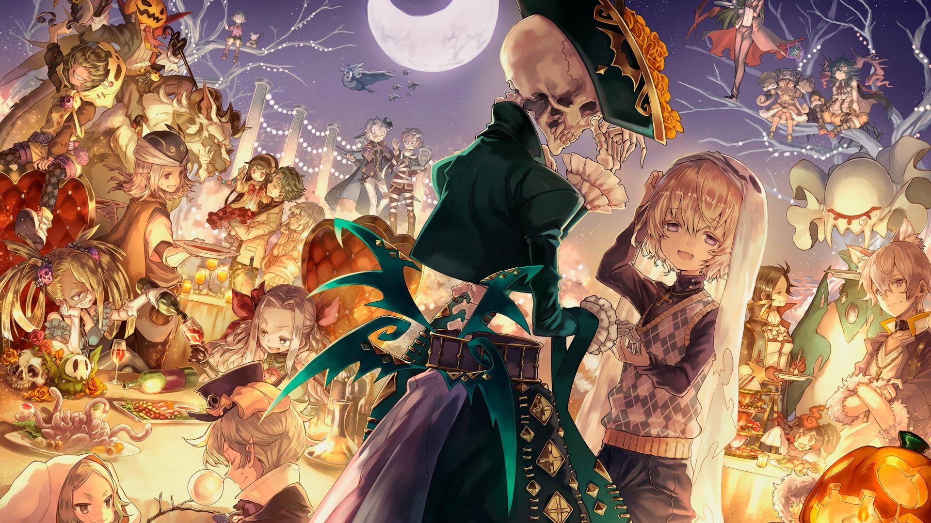 Desktop Wallpaper Halloween, Anime Girl, Ghost, Original ...