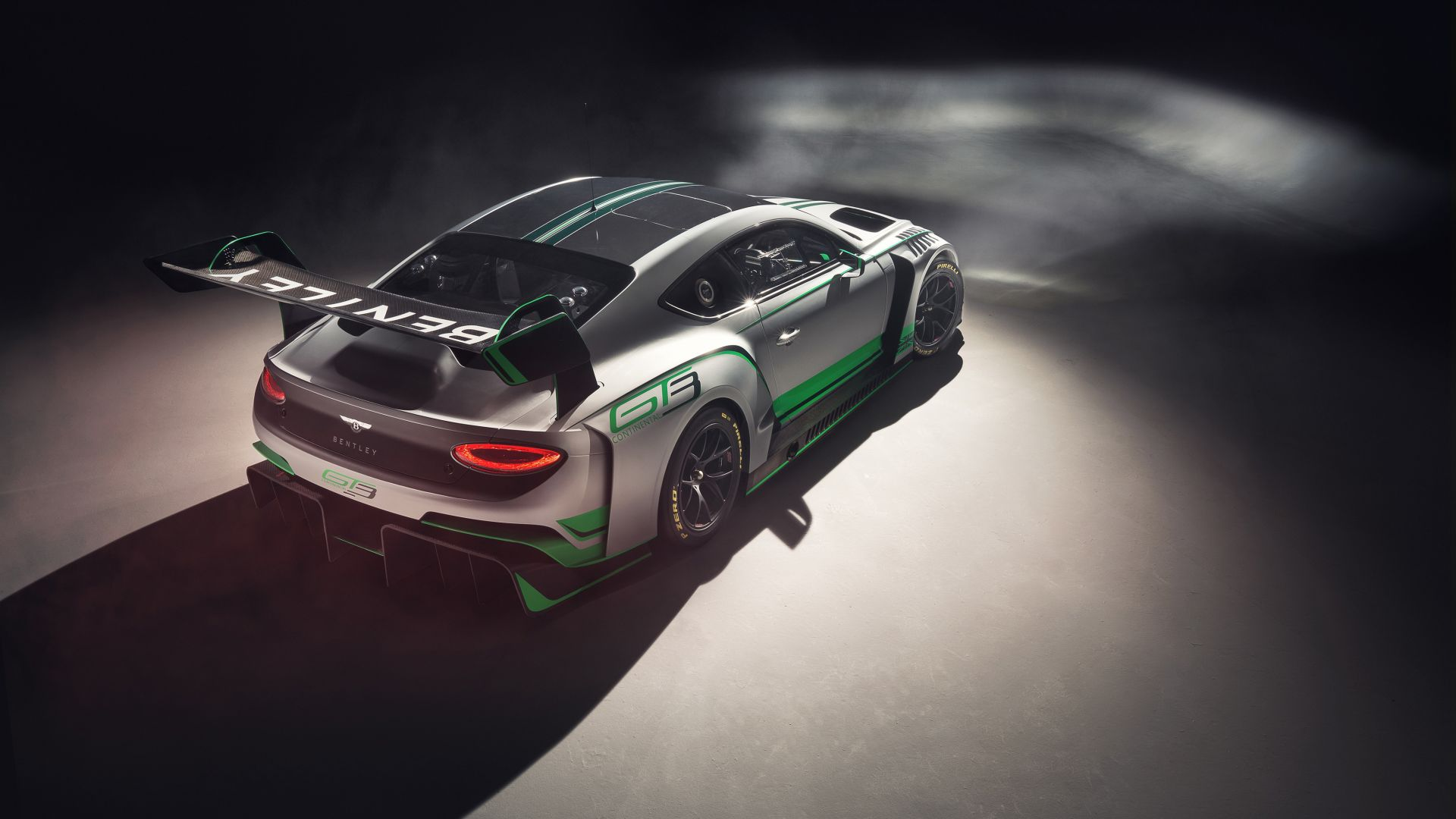 Wallpaper Bentley continental GT3, sports car, rear, 2018, 4k