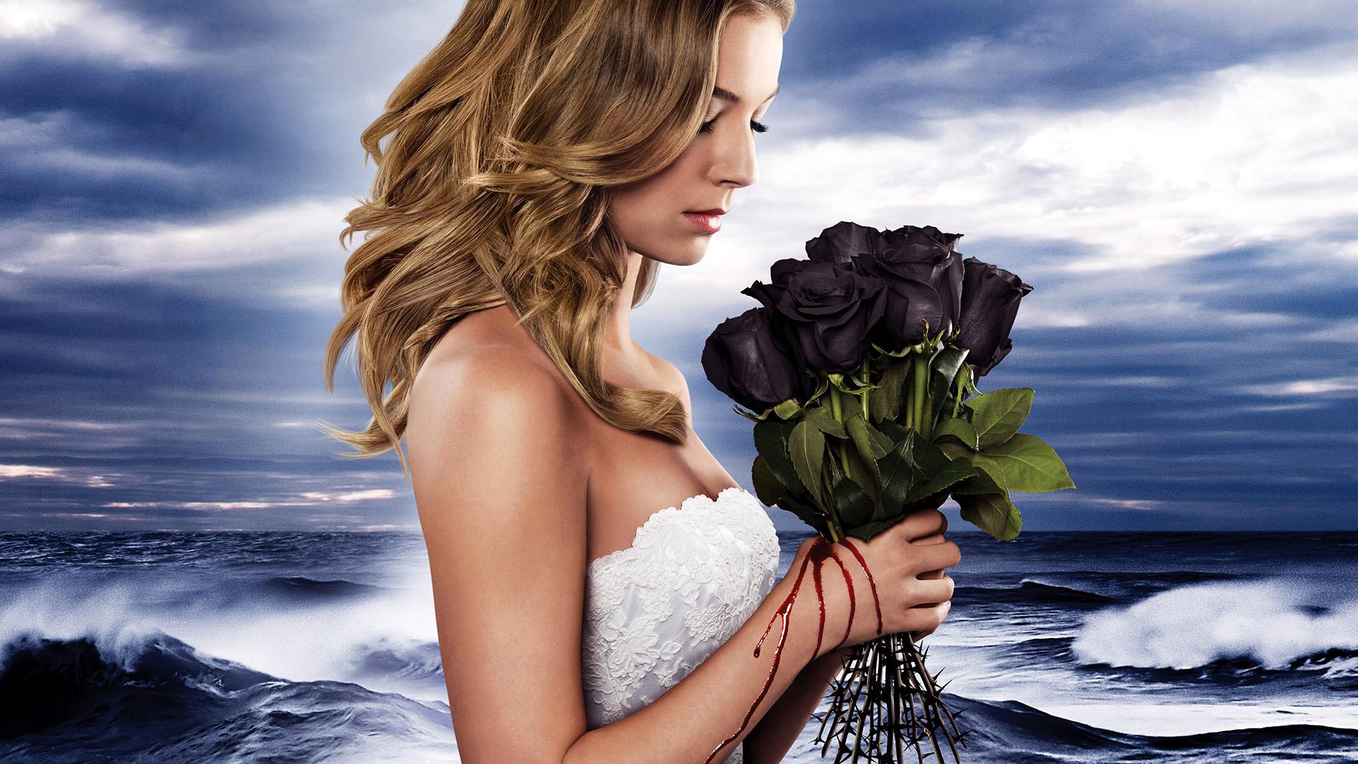 Wallpaper Revenge TV show, roses, actress