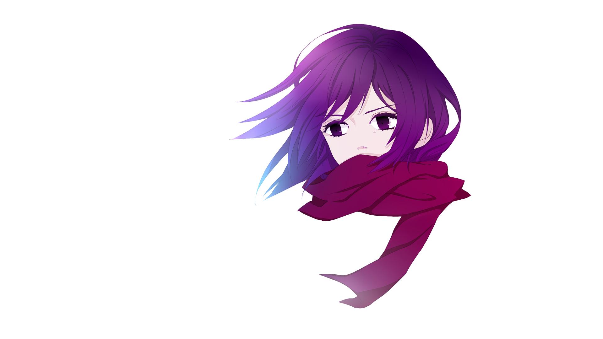 Wallpaper Mikasa Ackerman, Attack on titan, anime girl, face