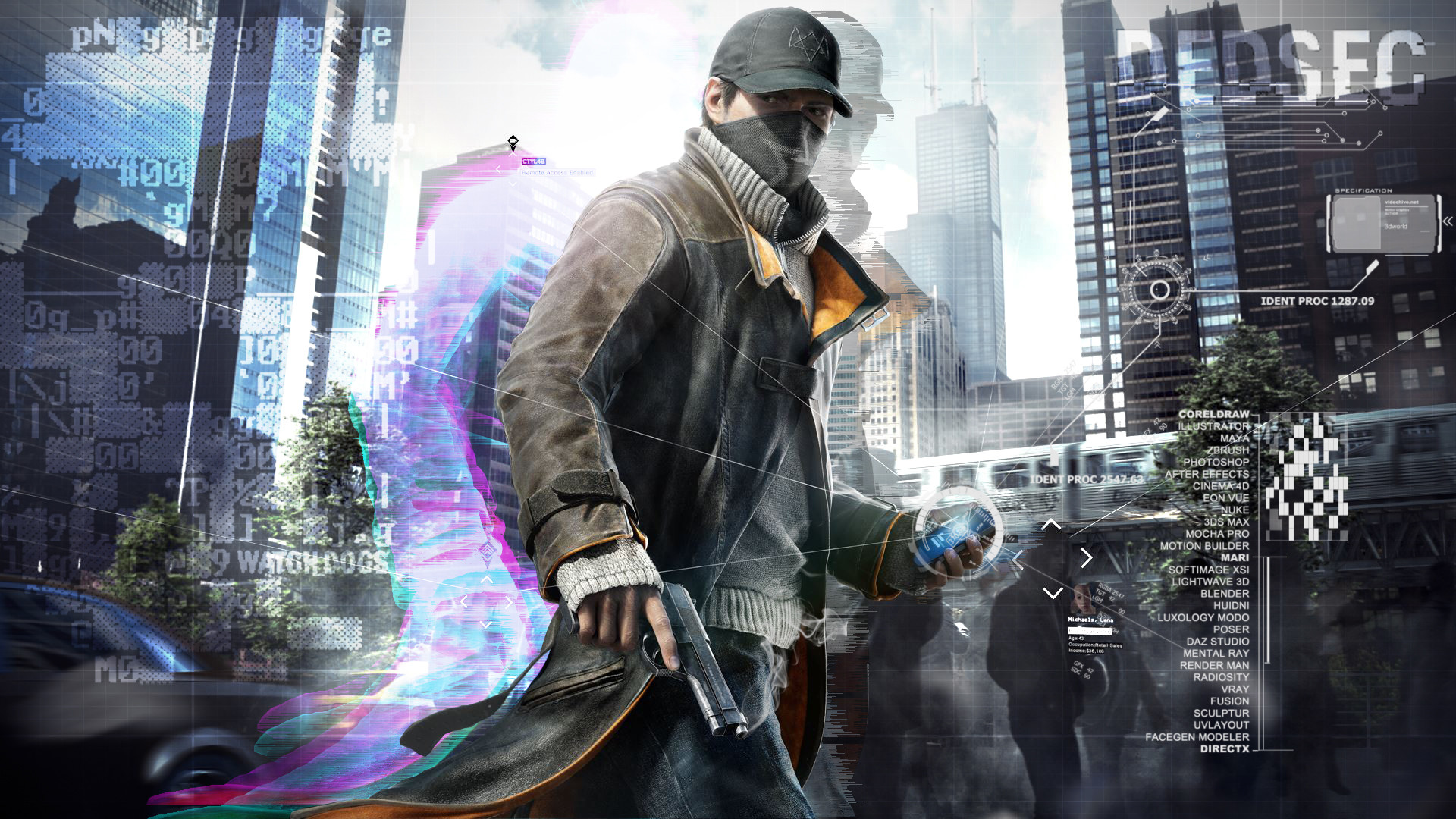 Watch Dogs High Resolution Games Hd Wallpaper For Mobile: Desktop Wallpaper Aiden Pearce, Watch Dogs, Game, Hd Image
