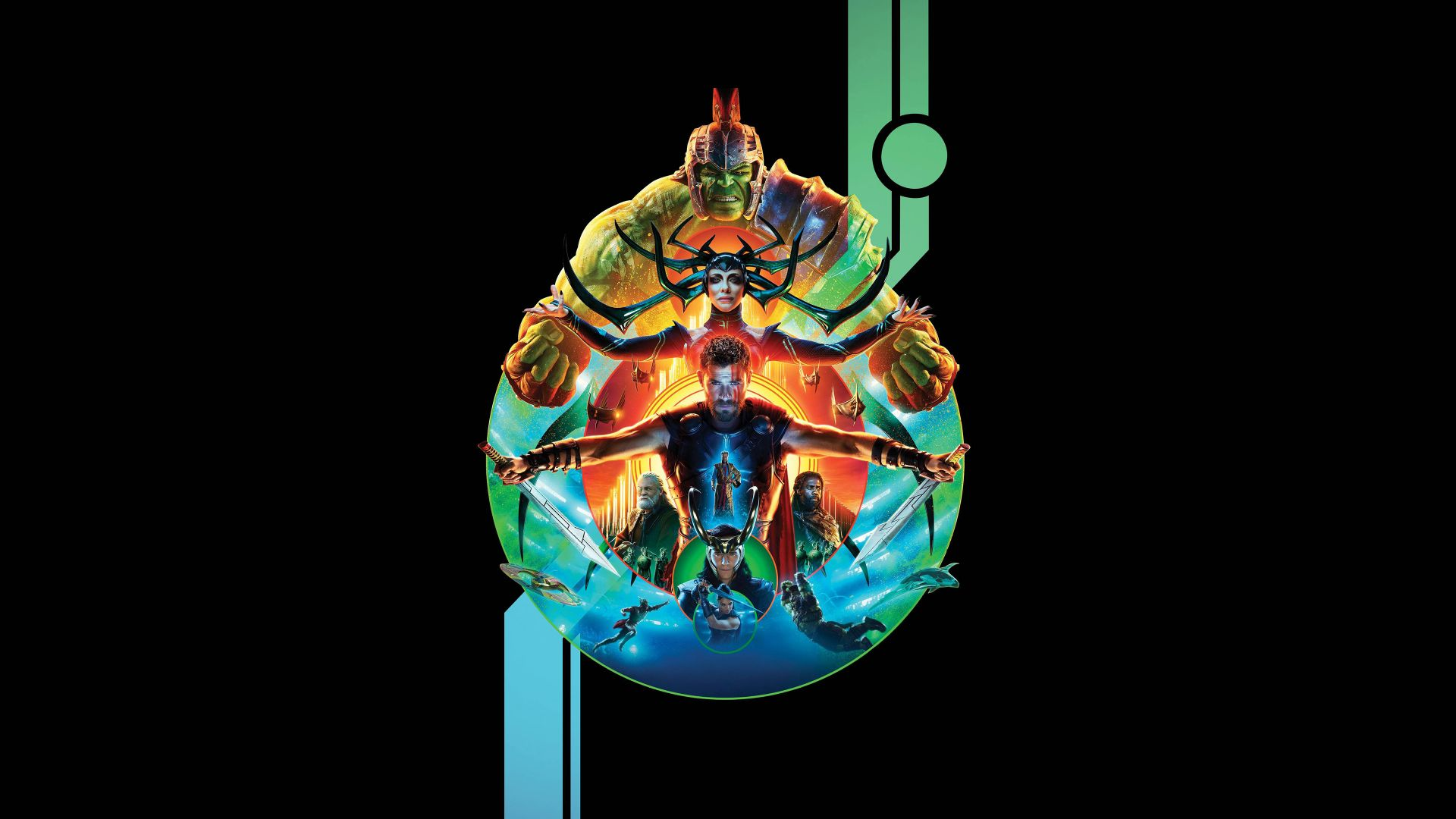 Wallpaper Thor: Ragnarok, Hulk, Thor, movie, poster, 4k