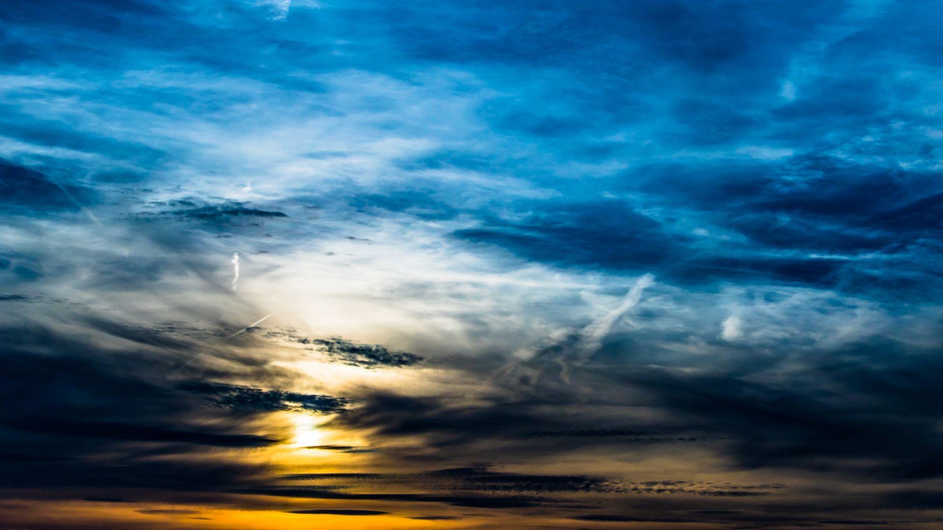 Wallpaper Clouds, sky, sunset, beautiful
