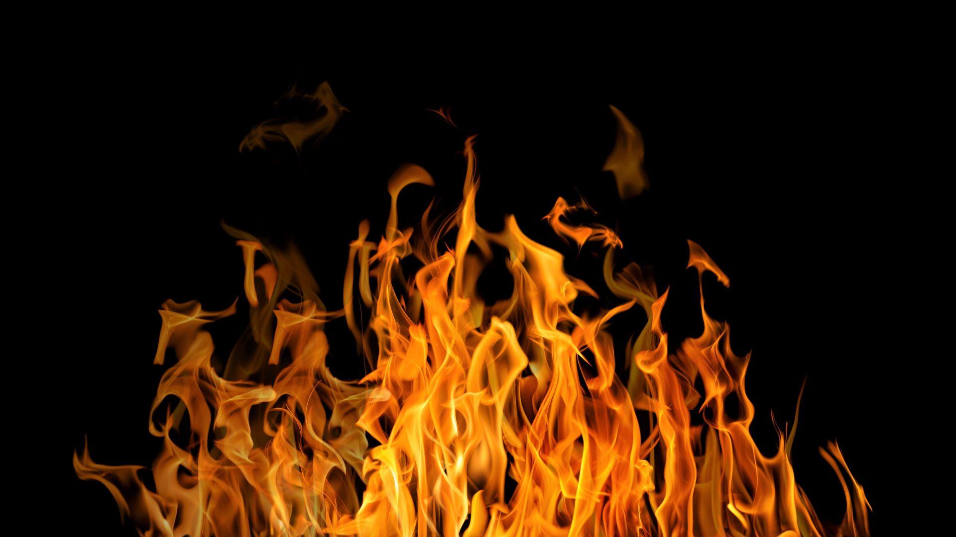 Desktop Wallpaper Fire Flames Dark 4k Hd Image Picture