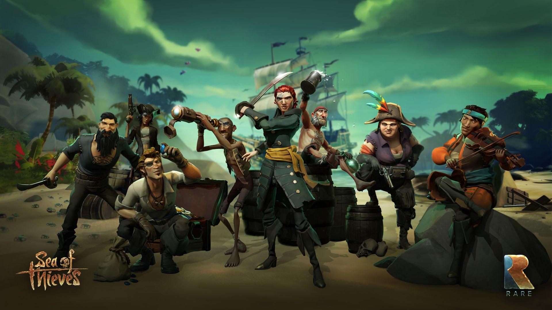 Wallpaper Pirates, Gang, Sea of thieves, 2018 game