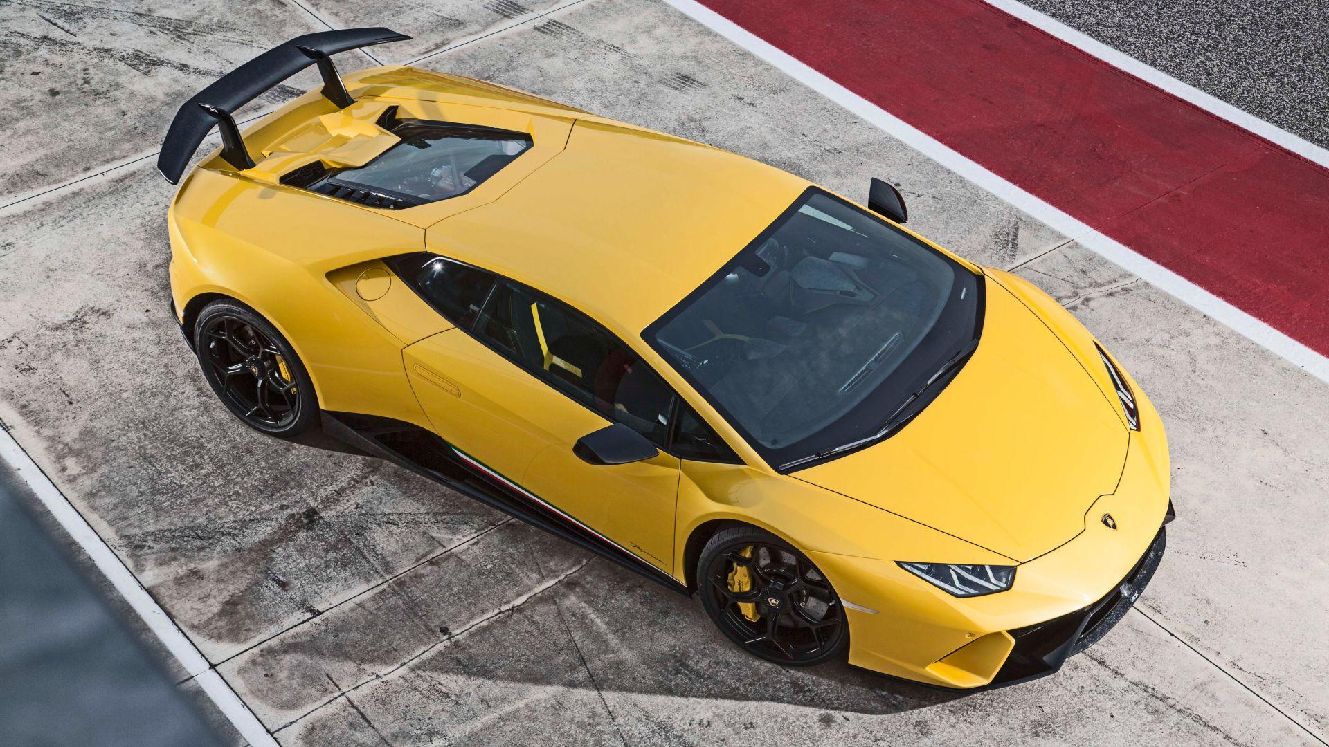 Desktop Wallpaper Lamborghini Huracan Performante 2018 Cars Yellow