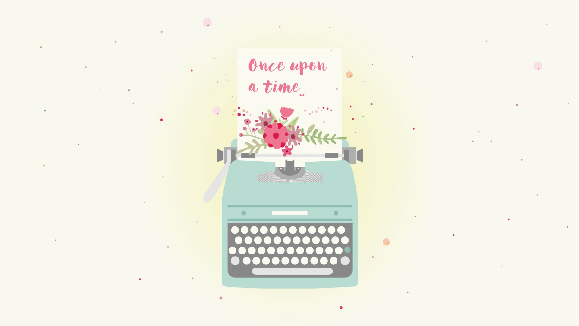 Wallpaper Once upon a time, typography, typewriter