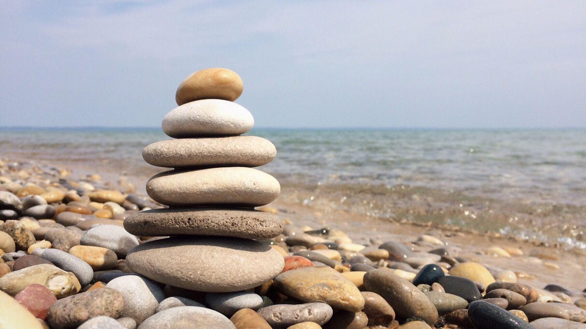 Wallpaper Rocks, balance, pebbles, beach, stones