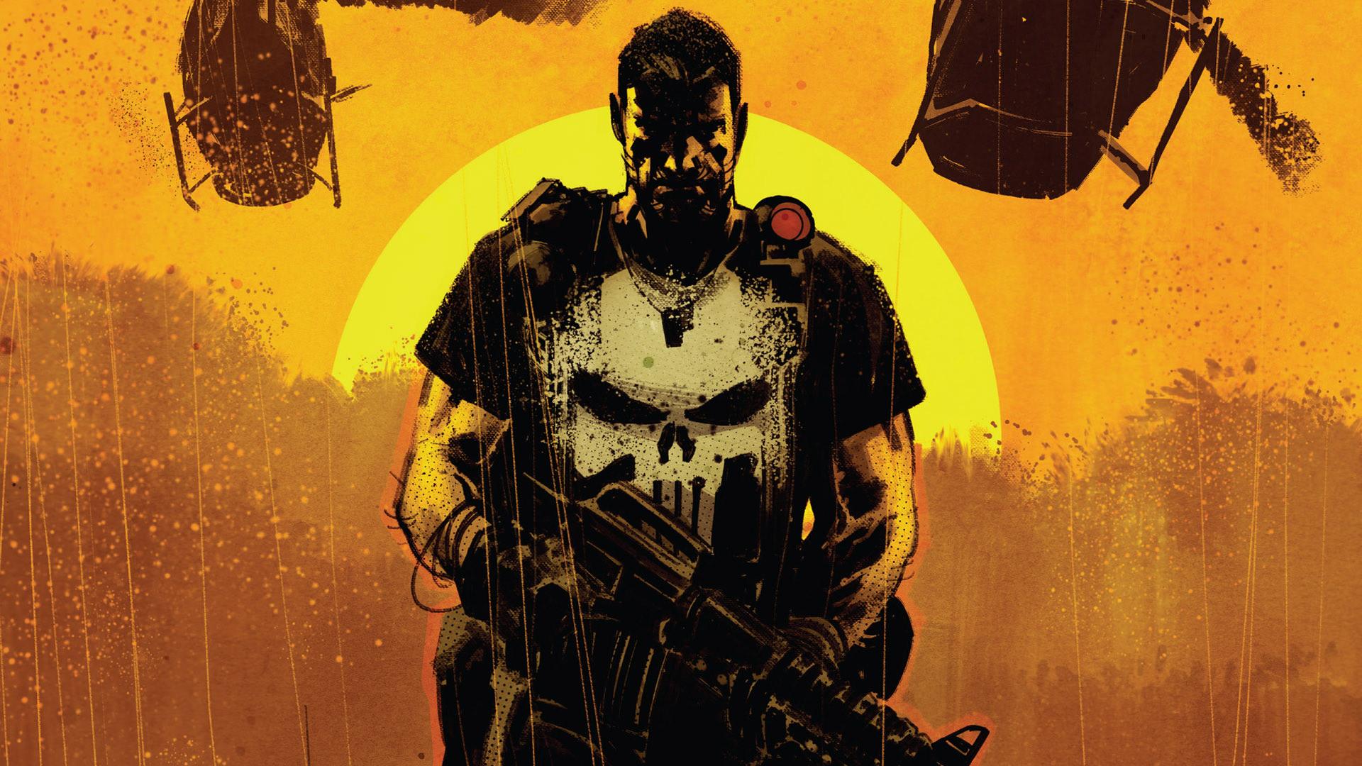 Wallpaper Punisher, superhero, comics