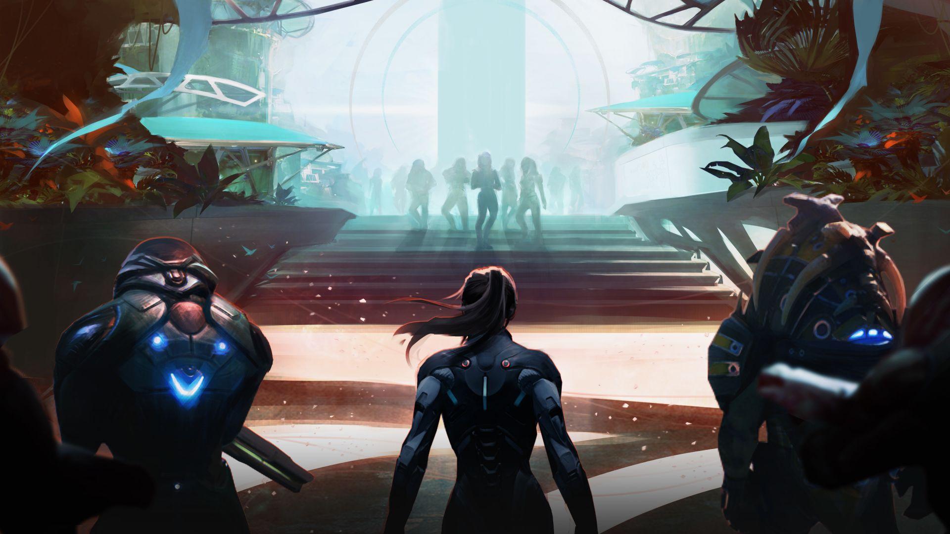 Wallpaper Mass Effect: Andromeda, n7, soldier, 4k