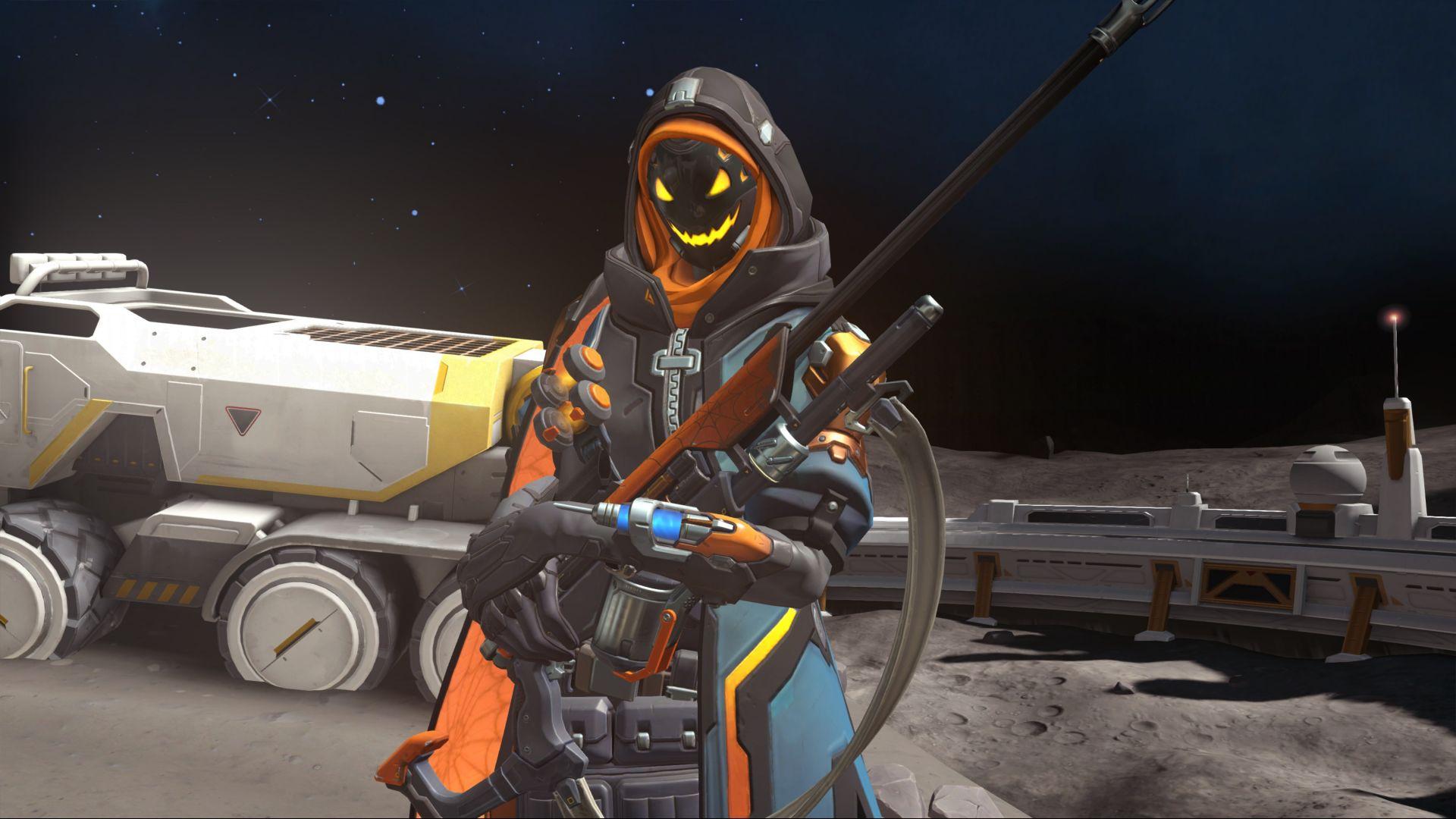 Wallpaper Ana, online game, overwatch, gun, 4k