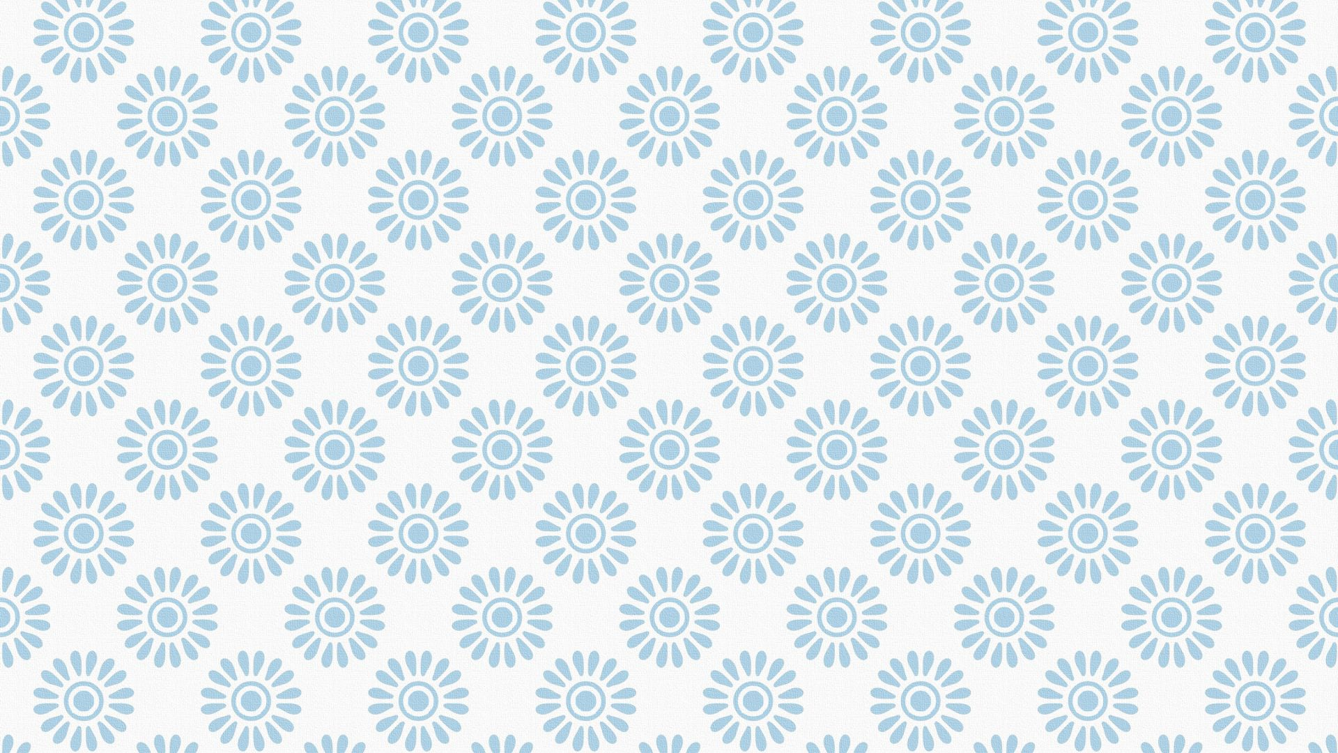 Wallpaper Blue flowers, floral pattern, abstract