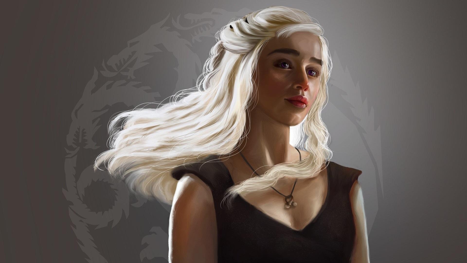 Desktop Wallpaper Daenerys Targaryen, Blonde, Fan Art