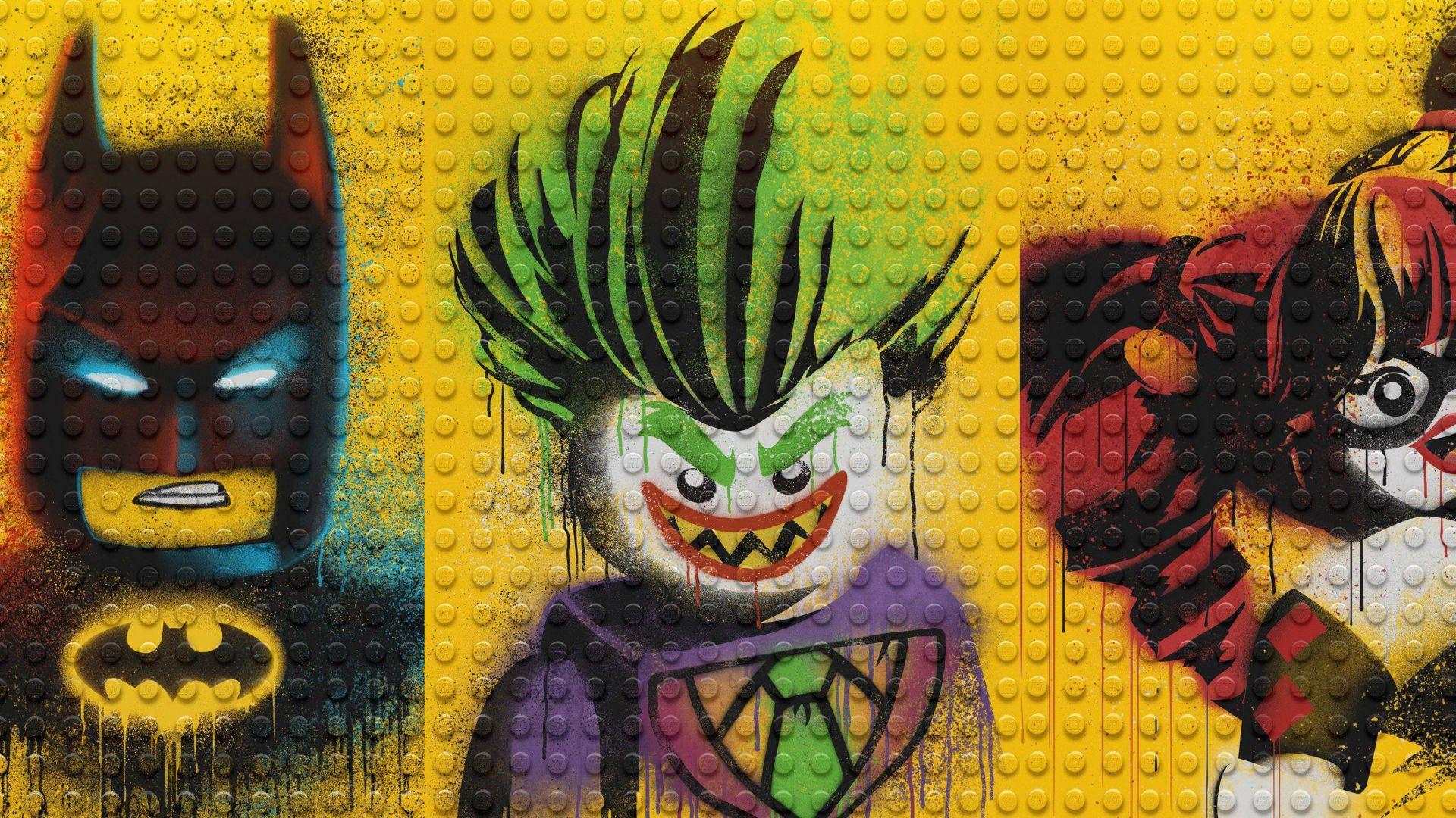 Wallpaper The lego batman, harley quinn and joker