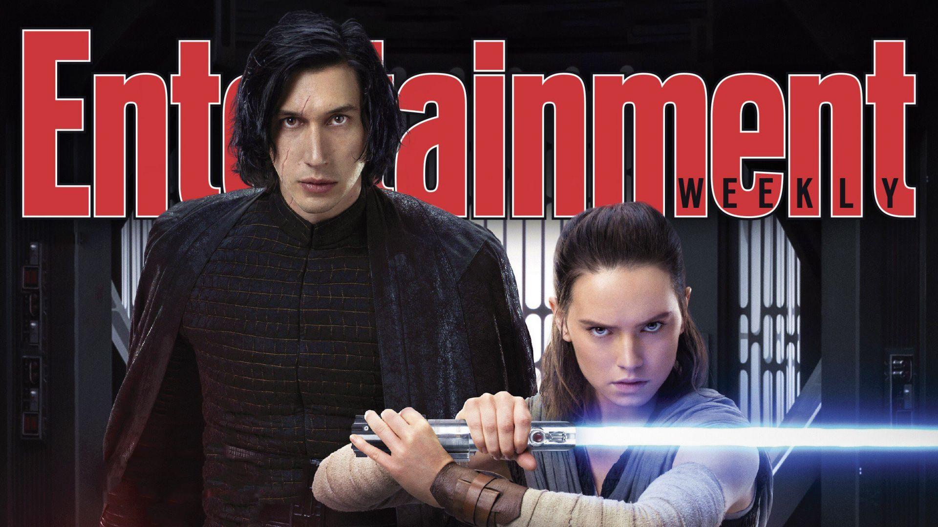 Rey, kylo ren, star wars: the last jedi, entertainment weekly, magazine Wallpaper
