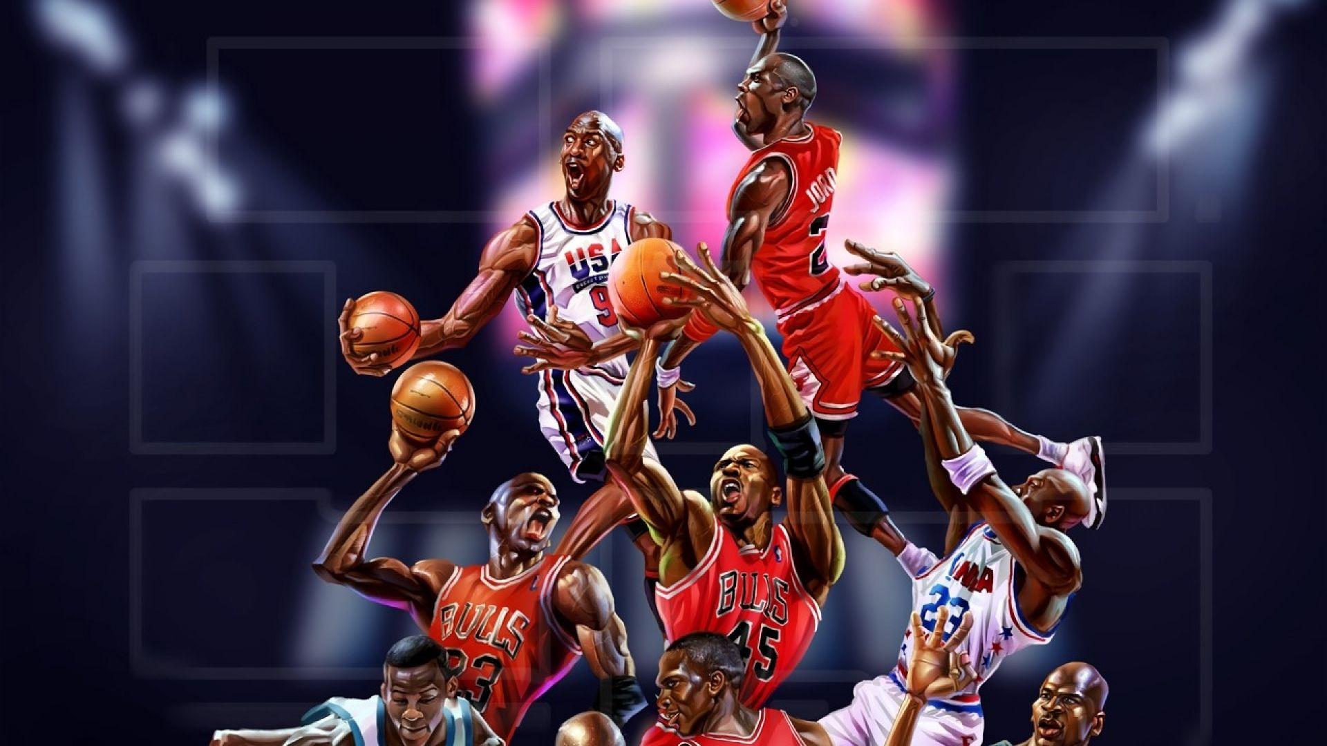 Wallpaper NBA, basketball, sports, players, art