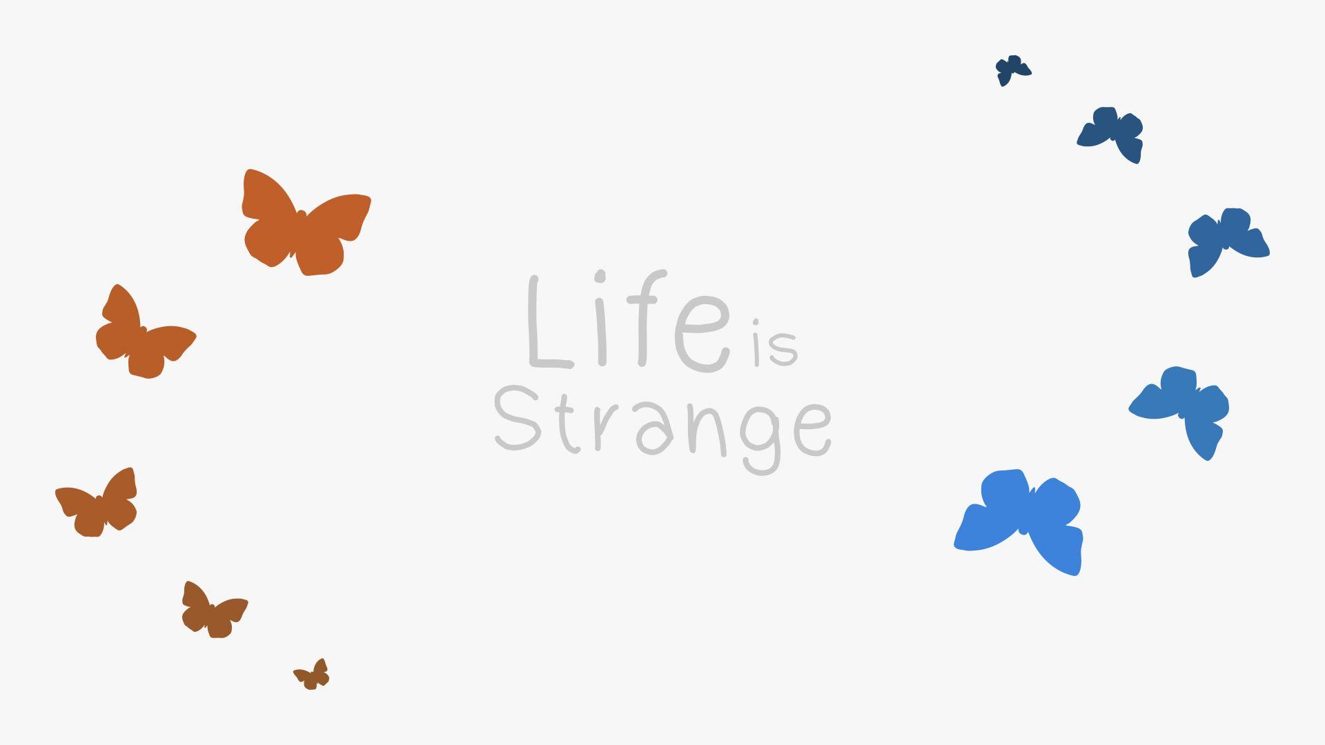 Wallpaper Life is strange, typography, minimal