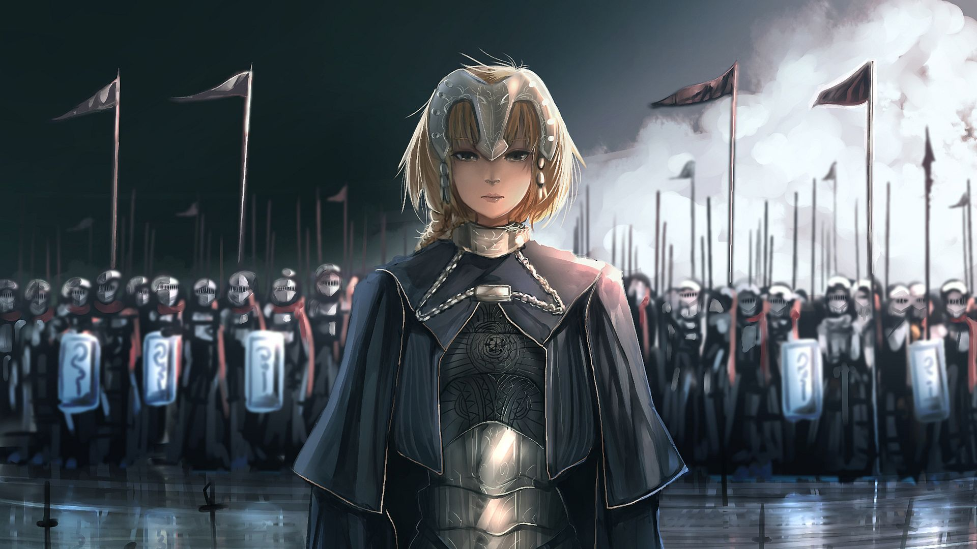Wallpaper Ruler, Fate/Apocrypha, anime girl, army