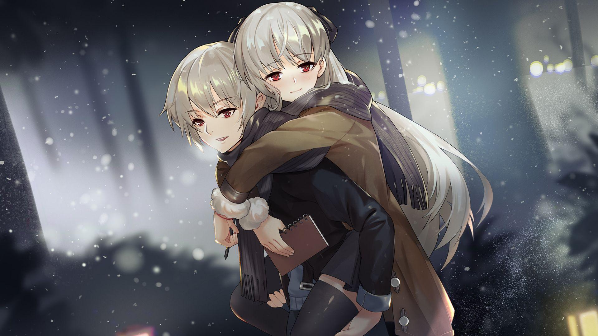 anime couple fun