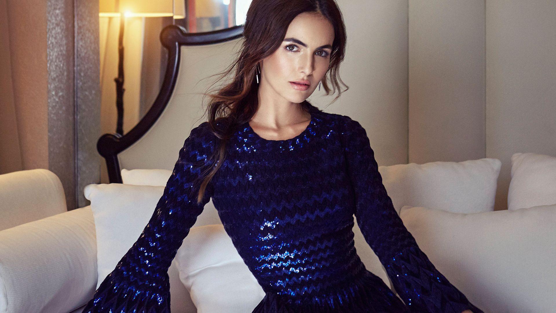 Wallpaper Camilla belle, blue dress, beautiful, 2017