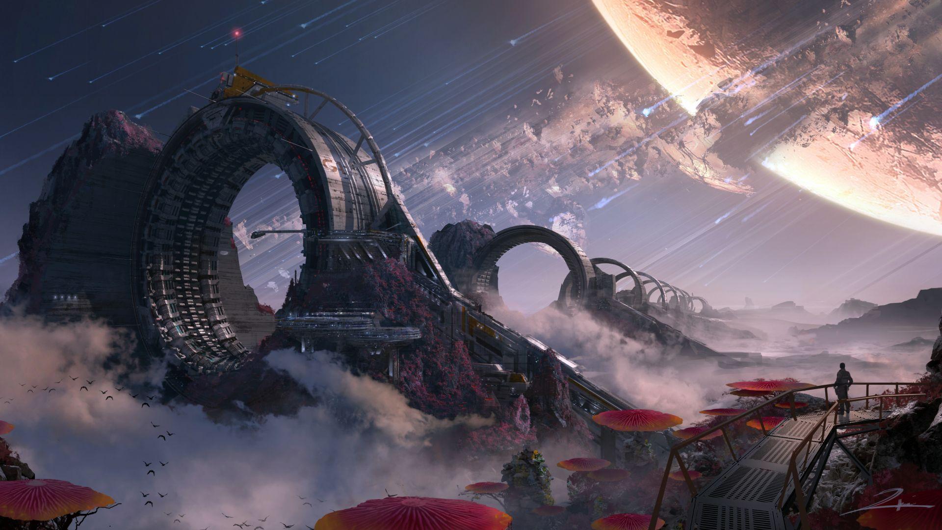 Wallpaper Titanfall 2 game concept artwork
