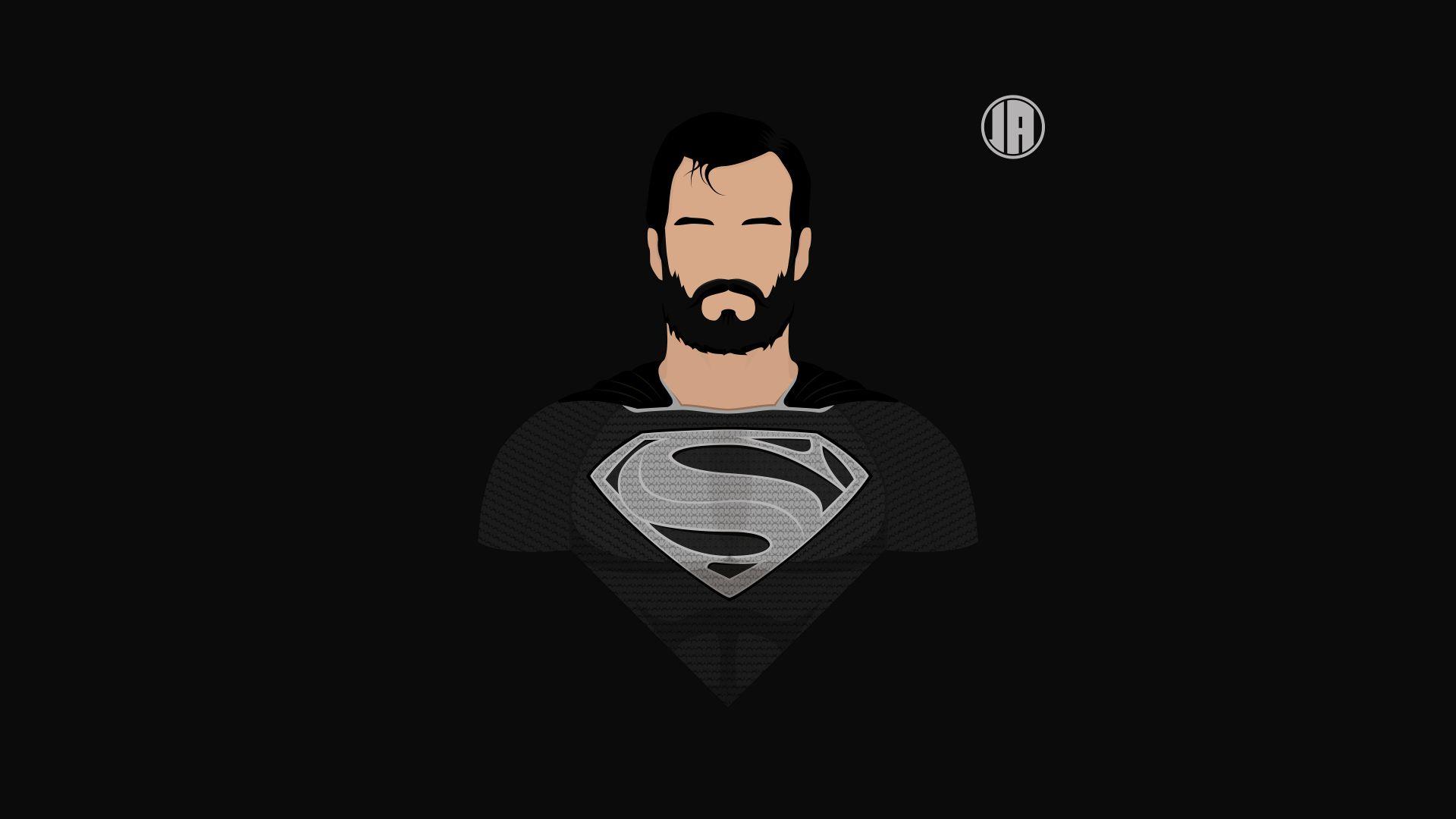 Wallpaper Superman, dark, minimalism, 8k
