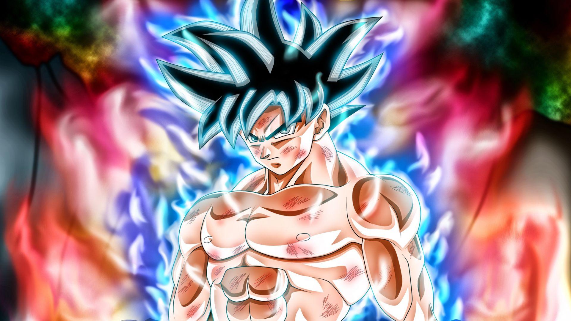 Wallpaper Goku, anime, anger, dragon ball super