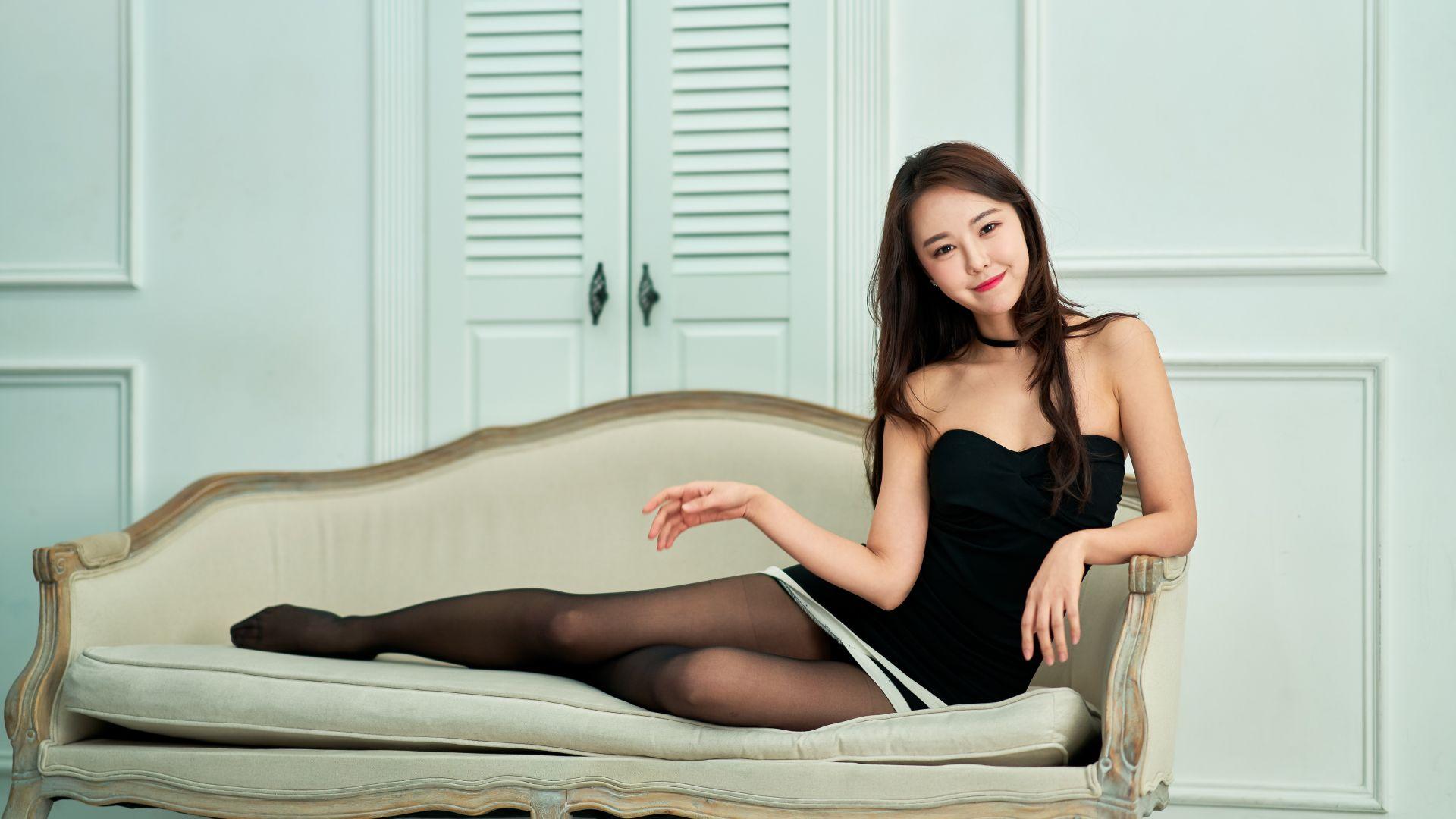 Wallpaper Jin Seo, korean model, smile