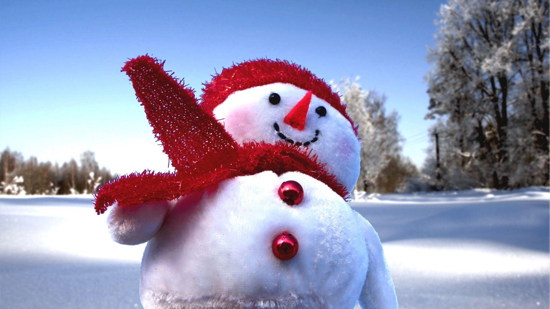 Wallpaper Snowman, winter, fun, holiday, 2017
