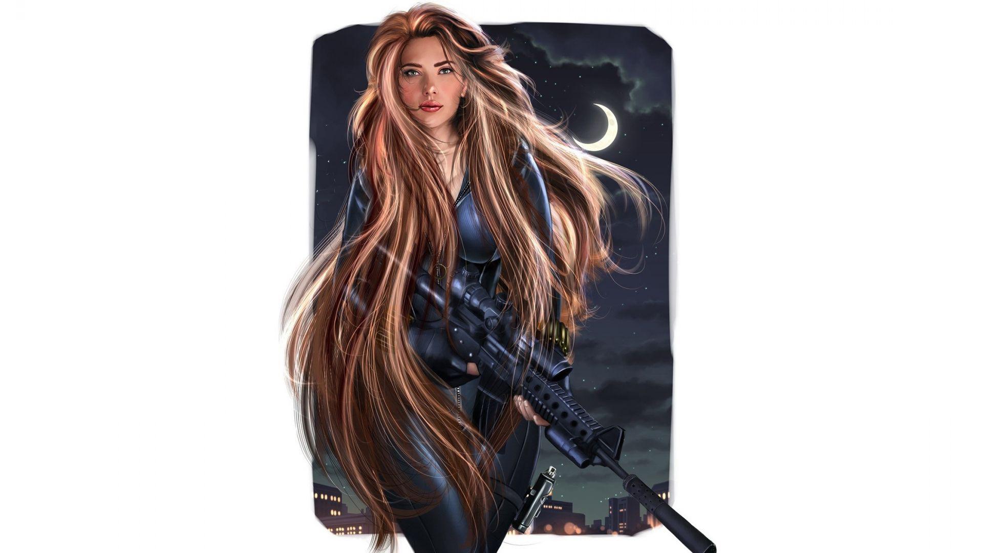 Wallpaper Black widow, Scarlett Johansson, minimal, superhero, art