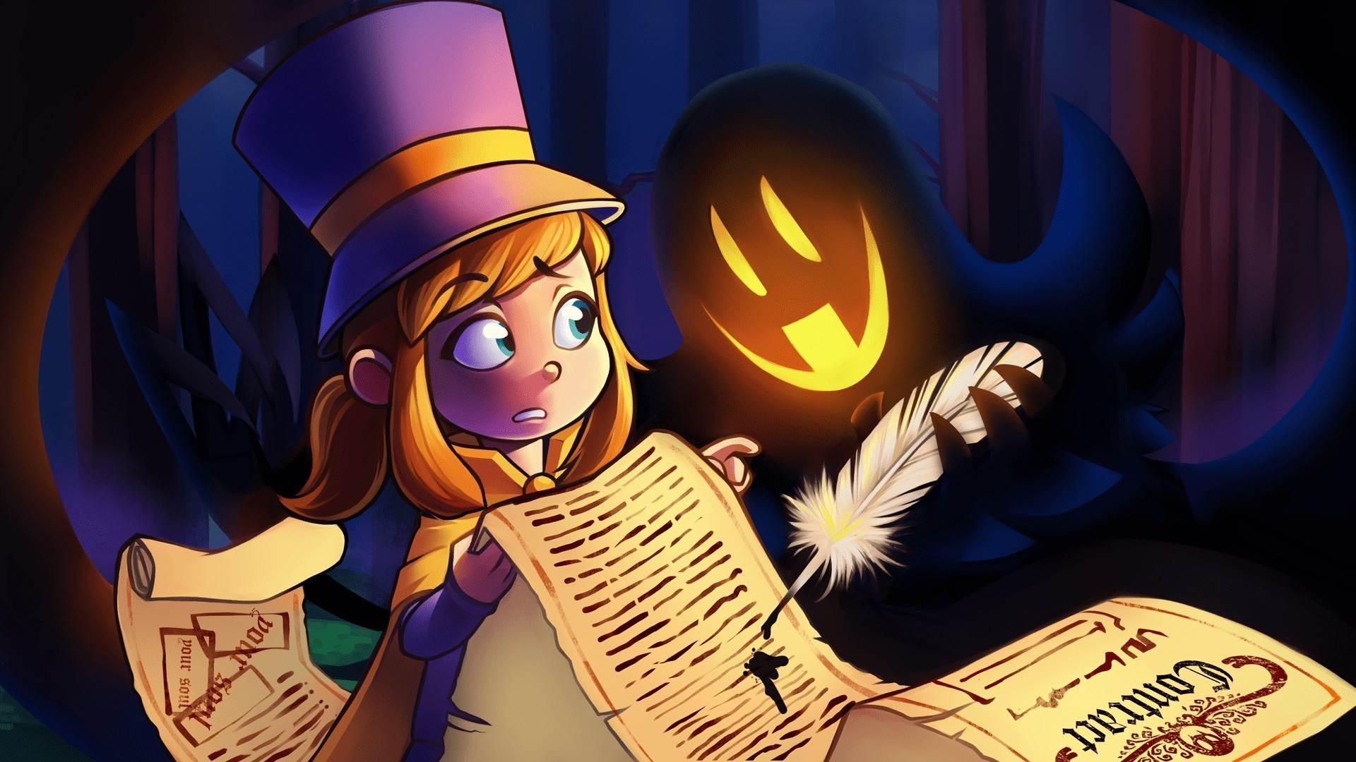 Wallpaper A hat in time, video game, ghost
