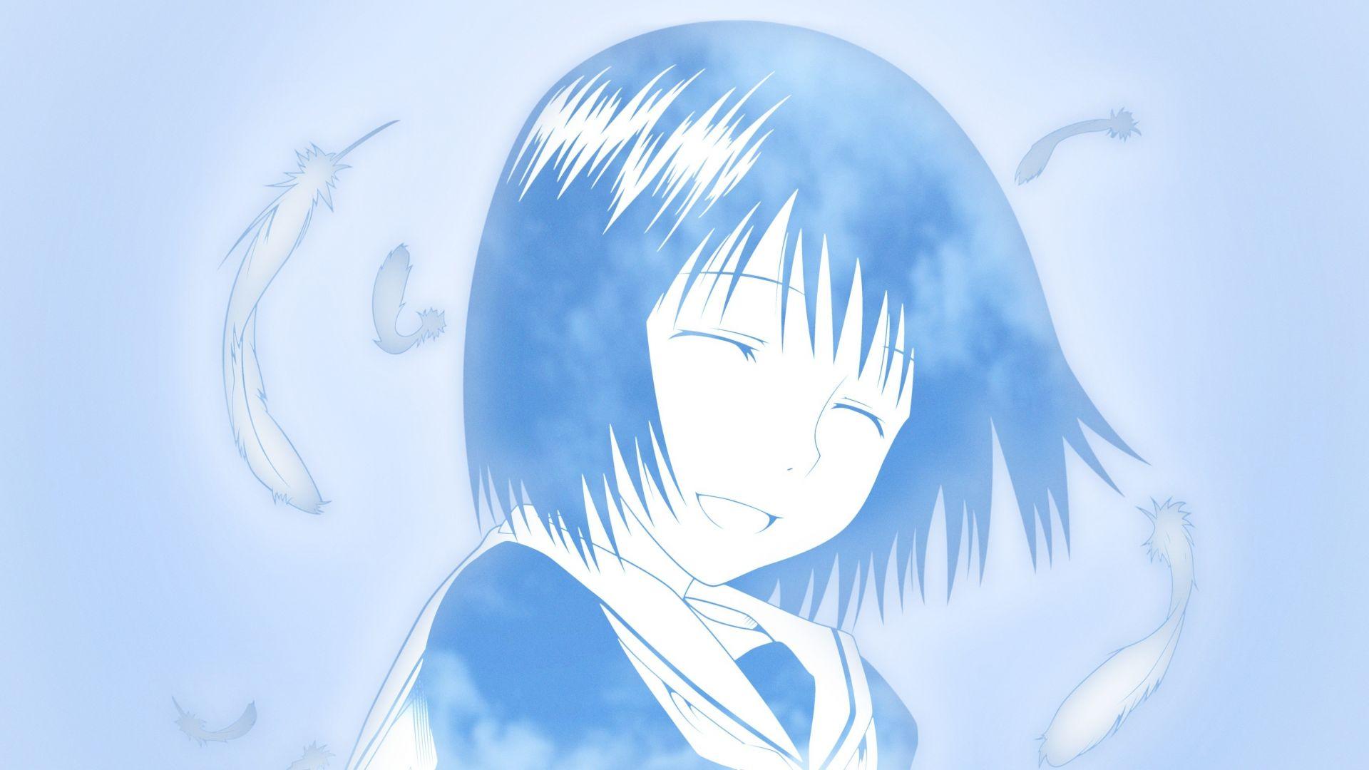 Wallpaper Cute, smile, Misaki Nakahara, anime girl