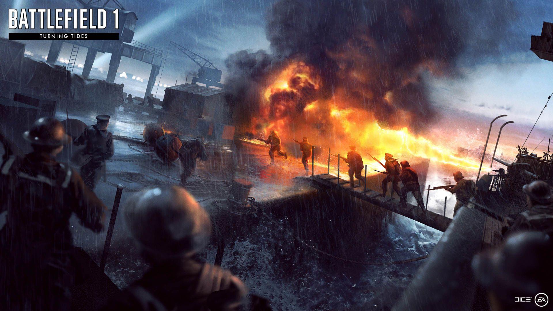 Wallpaper Battlefield 1: Turning Tides DLC, video game, 4k