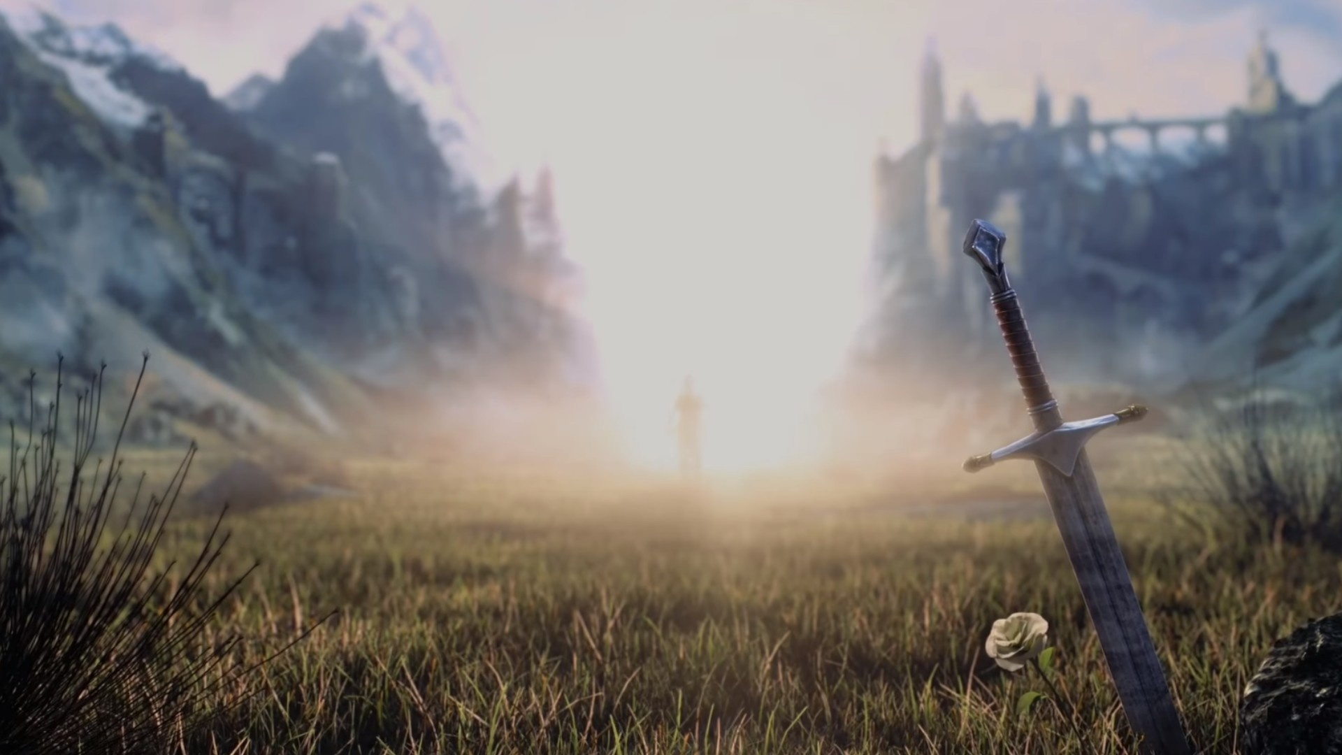 Wallpaper Middle-earth: shadow of war, landscape, sword, video game