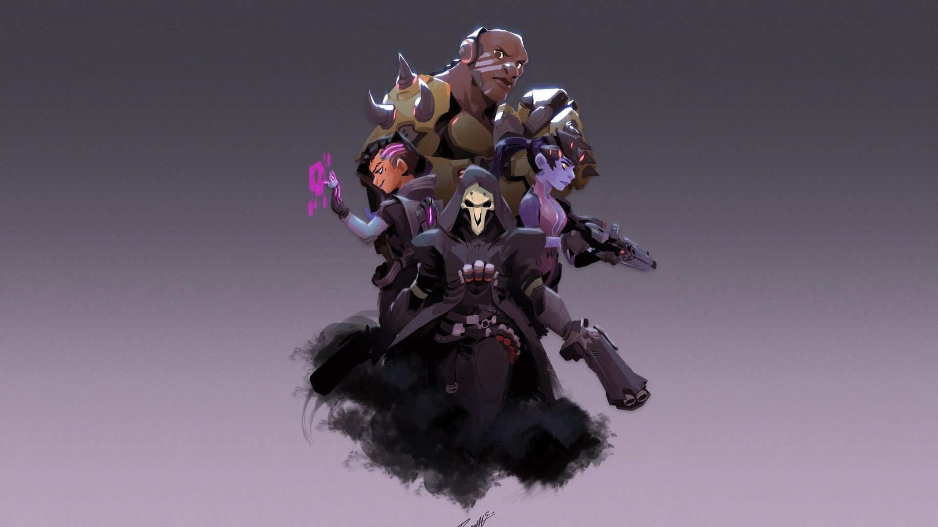 Desktop wallpaper overwatch reaper widowmaker art - Overwatch christmas wallpaper ...