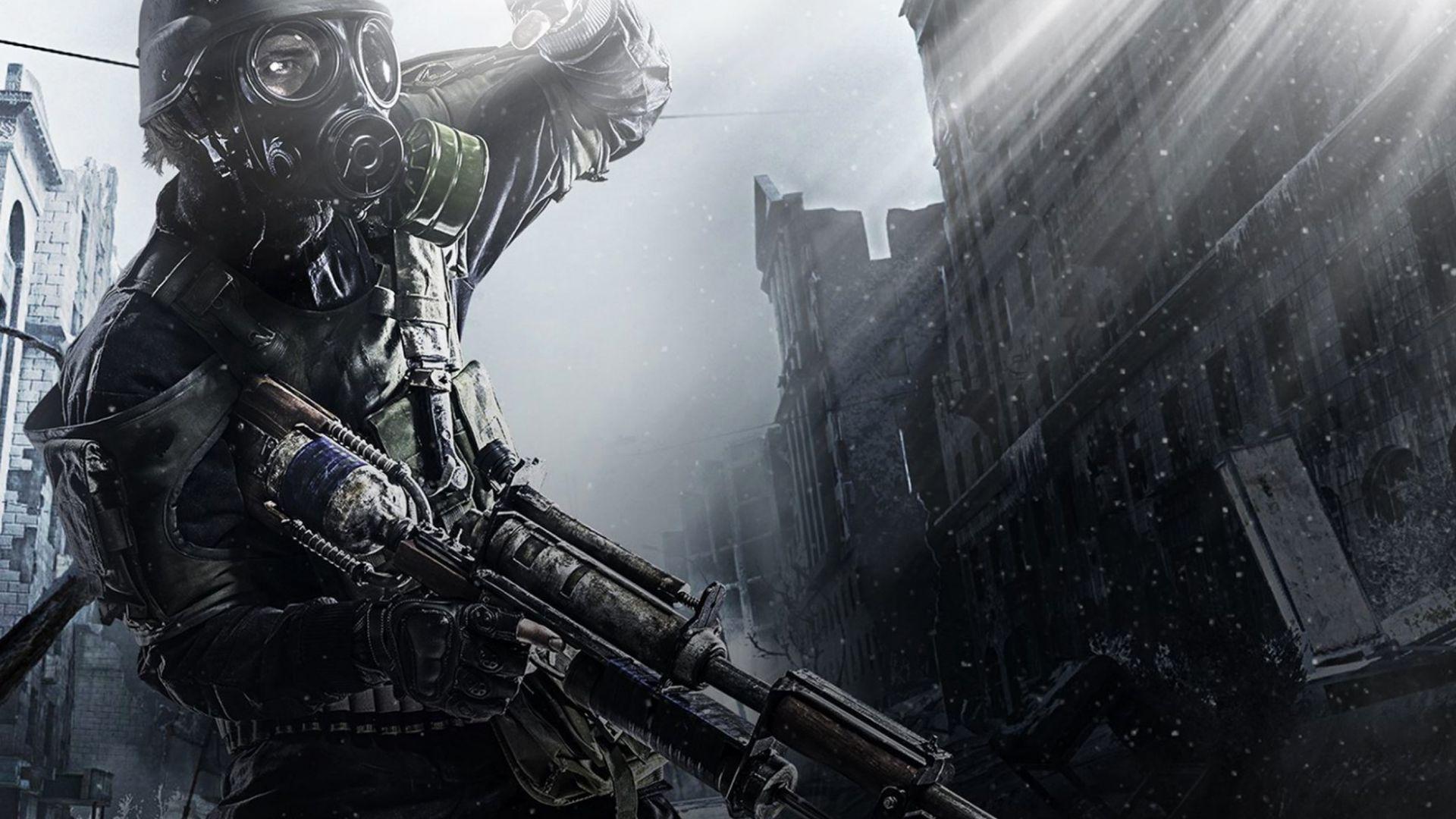 Metro 2033 Dark Soldier Video Game Wallpaper