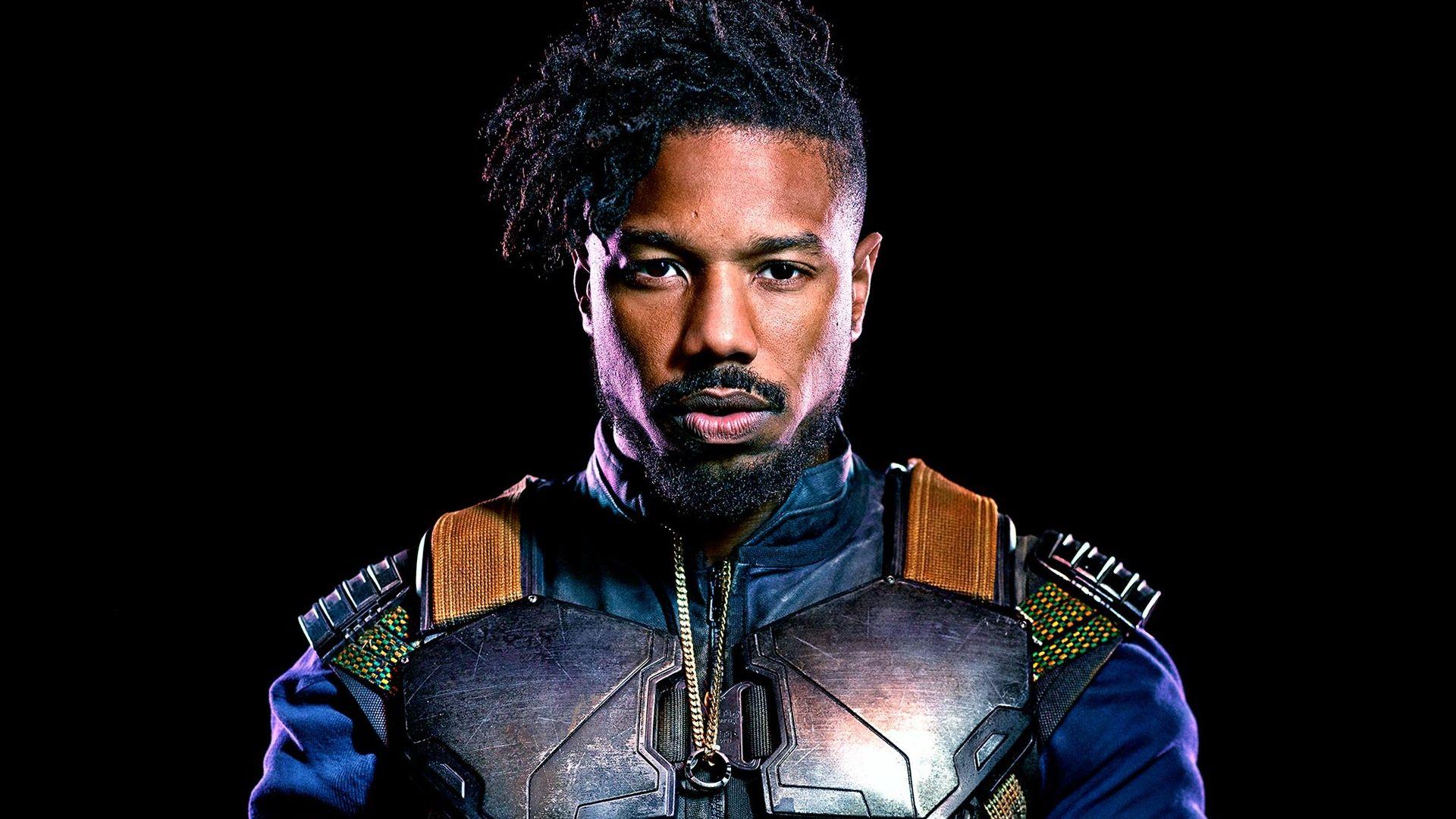 Wallpaper Black Panther, Michael B. Jordan, 2018 movie, actors