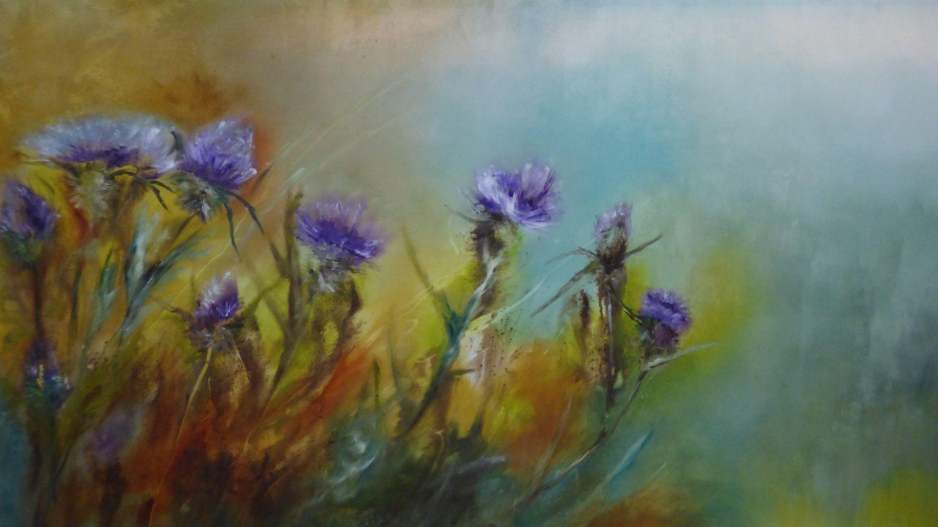 flowers oil painting art
