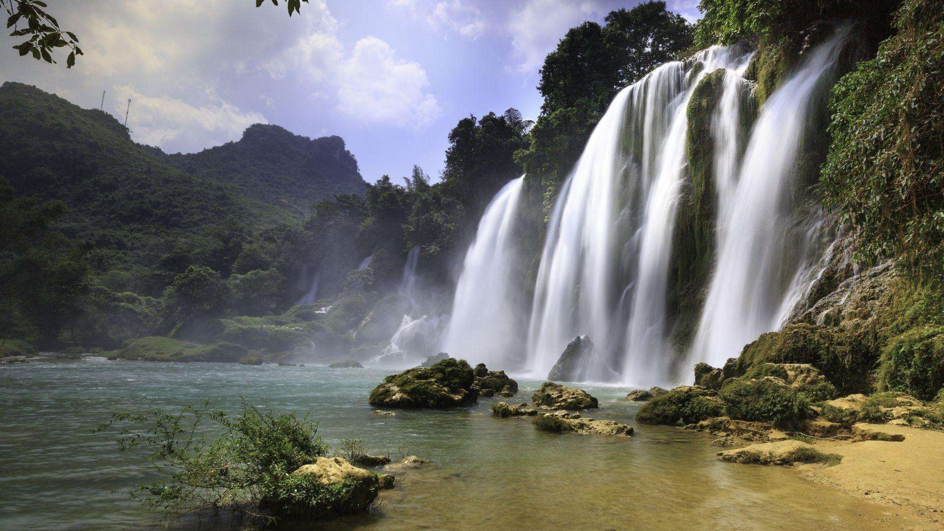 Desktop Wallpaper Nature Waterfall River 4k Hd Image Picture Background Af5d90
