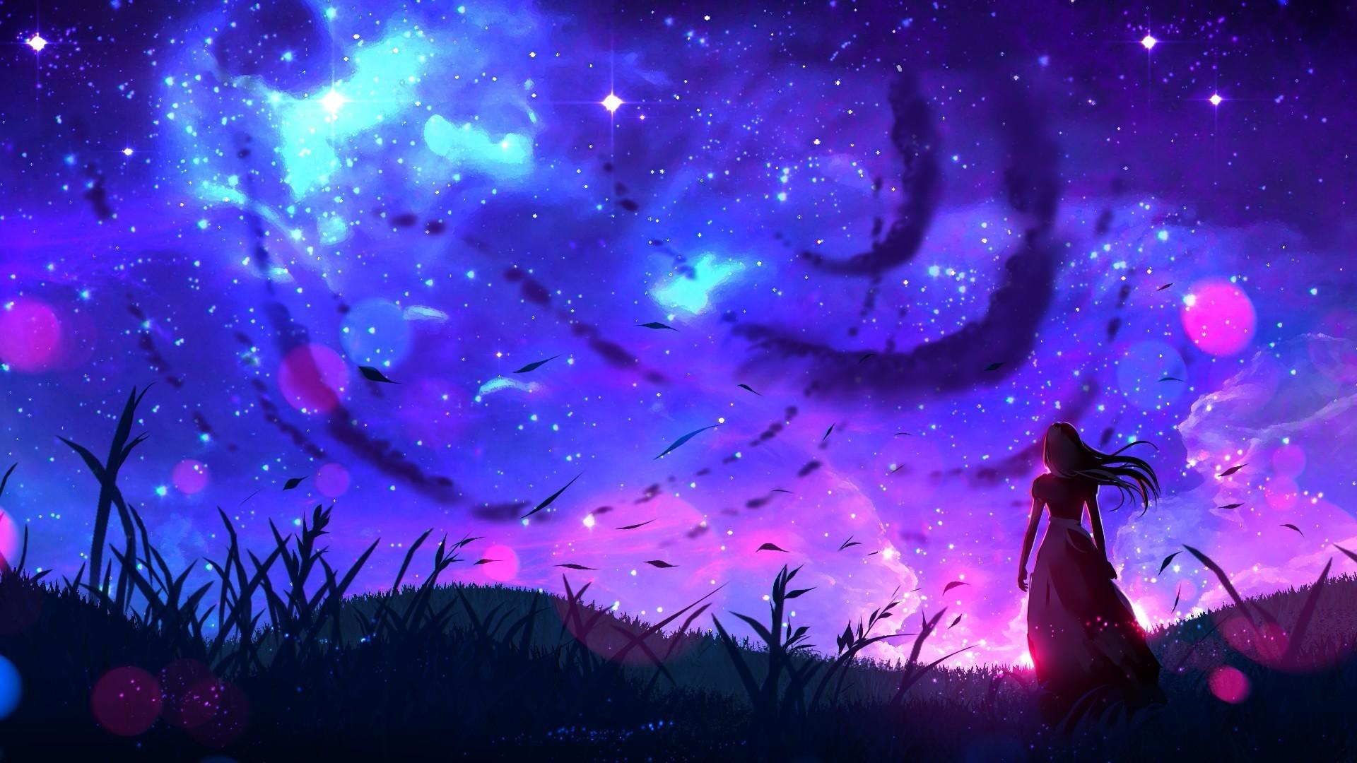art-landscape-night-anime-girl-original Ideas For Anime Art Landscape @koolgadgetz.com.info