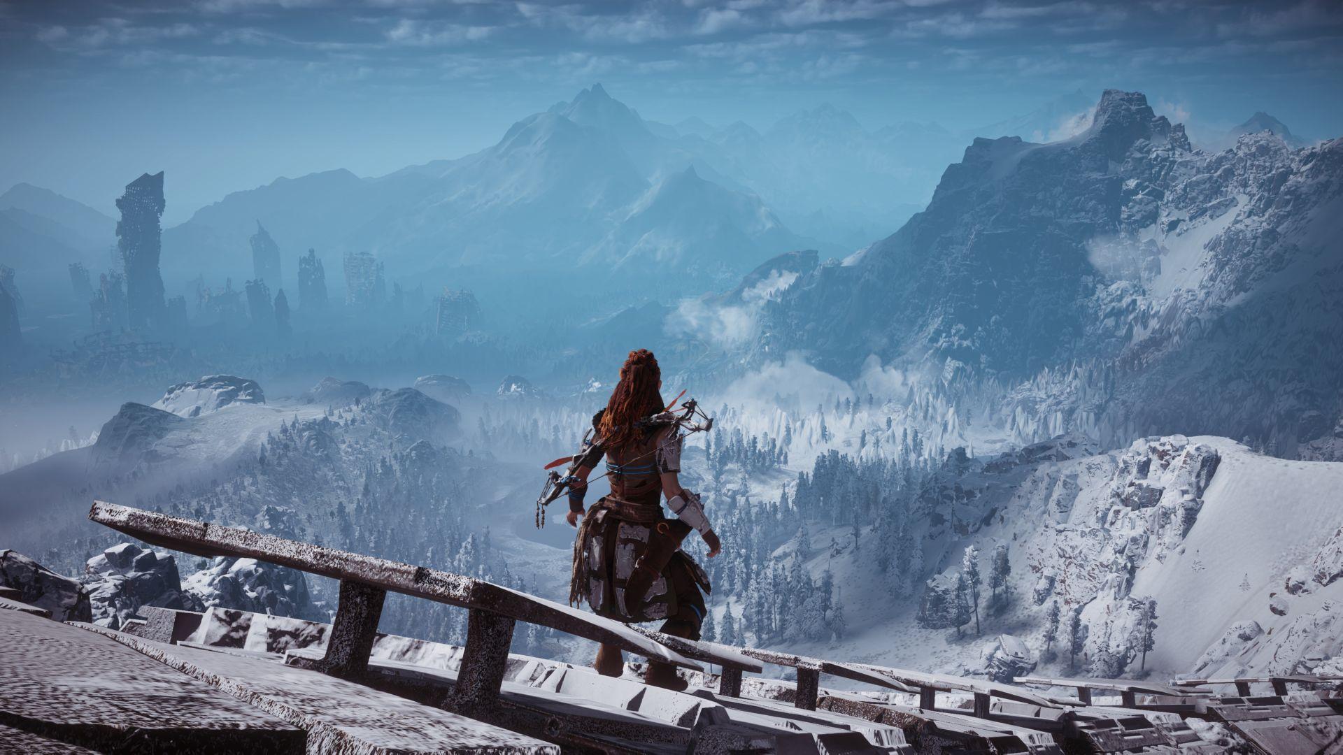 Wallpaper Horizon Zero Dawn, game, video game, mountains, alloy, valley