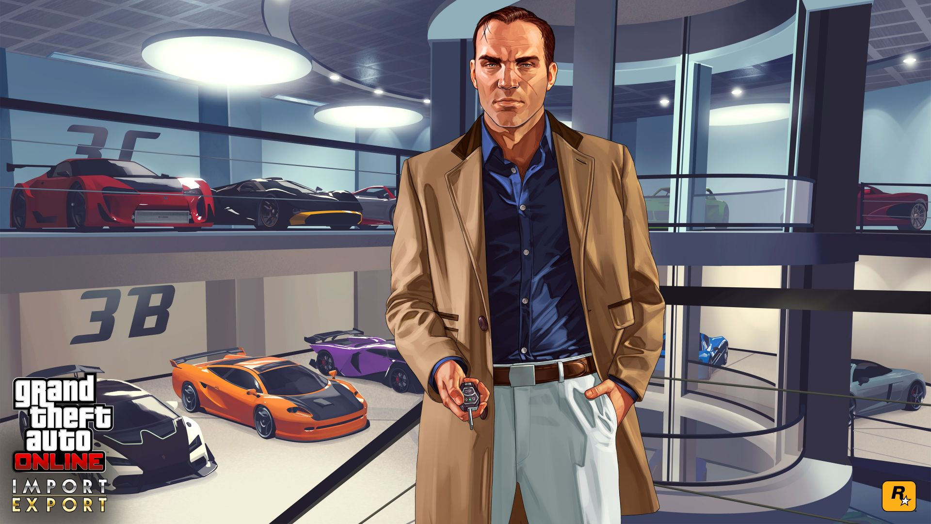 Wallpaper Garage from grand theft auto v video game