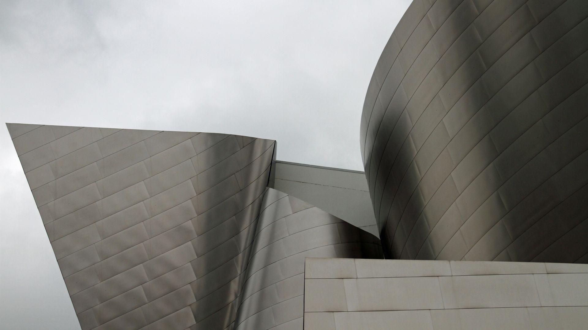 Wallpaper Walt Disney Concert Hall, modern architecture, concert hall